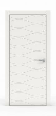 Межкомнатная Дверь нордика - 0160. Цвет - Белый