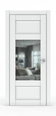 Дверь экошпон- 342-ГР Платина