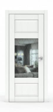 Дверь экошпон- 342-ГР Ясень белый