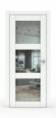 Дверь - 343-ГР Ясень белый
