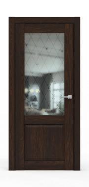 Классическая межкомнатная дверь - 341-ГР Коньяк