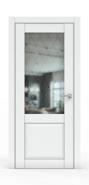 Классическая межкомнатная дверь - 341-ГР Платина