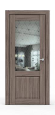 Классическая межкомнатная дверь - 341-ГР Шимо Темный