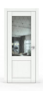 Классическая межкомнатная дверь - 341-ГР Ясень Белый