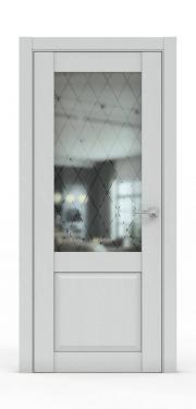 Классическая межкомнатная дверь - 341-ГР Ясень Серый