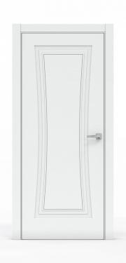 Классическая межкомнатная дверь - Платина 3801