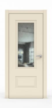 Премиум дверь из эмали - 1302-ГР Айвори