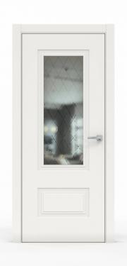 Премиум дверь из эмали - 1302-ГР Белый