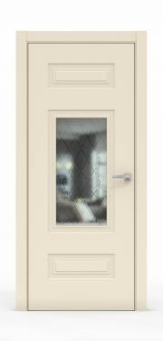 Премиум дверь из эмали - 1305-ГР Айвори