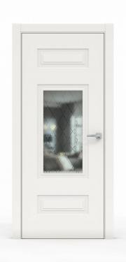 Премиум дверь из эмали - 1305-ГР Белый