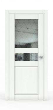 Двери - 344Б-ГР Ясень белый