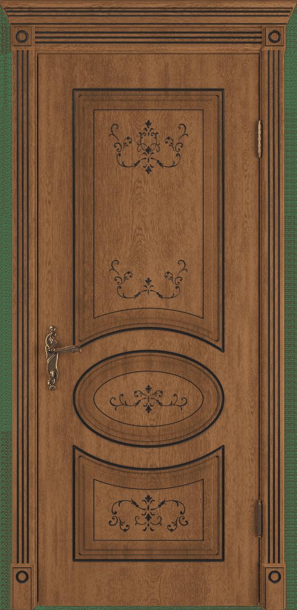 коричневая межкомнатная дверь